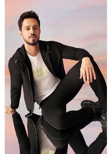 Avva Erkek  Kapüşonlu Sweatshirt A11Y1009 Siyah